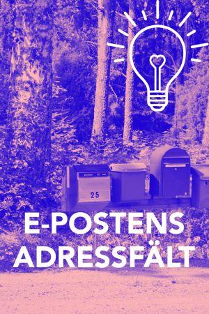 Bild med texten; E-postens adressfält.