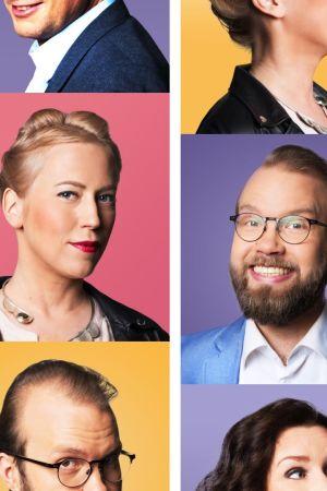 Kuvassa Kulttuuriykkösen toimittajat vuonna 2019