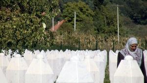 Kyrkogård i Screbrenica, Yle 2013