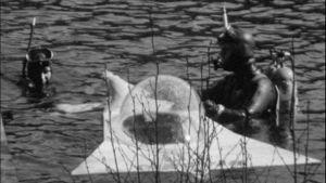 Lahdessa rakennettu Pingvin-pienoissukellusvene 1970.