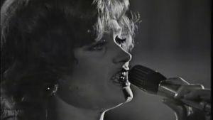 Irina Milan laulaa Suomen euroviisukarsinnassa 1973
