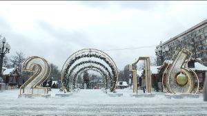 Januari i Moskva.
