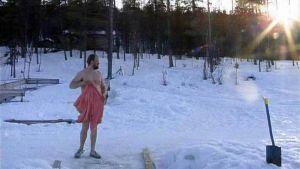 """Harrinivan lomakylän perustaja Kyösti """"Köpi"""" Pietikäinen ohjelmassa Tosi suomalainen"""