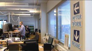 Kontorsutrymmen hos företaget Svea Ekonomi.