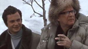 Kekkonen ja prinssi Kaarle Kustaa perinteisellä hiihtolomalla Lapissa 1970.