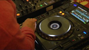 Mixerbord för DJ