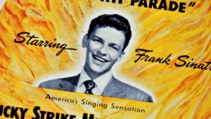 Frank Sinatran vanha keikkamainos. Kuva dokumenttielokuvasta Sinatra: All or Nothing at All.