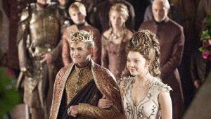 Joffrey Baratheon (Jack Gleeson) ja Margaery Tyrell (Natalie Dormer)