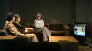 Pekka Marjamäki ja Reijo Laksola Ylen kisastudiossa 1976.
