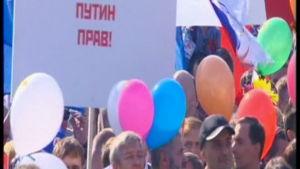 Putins anhängare på Röda torget