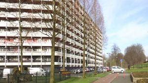 Bostadshus i invandrarområde i Amsterdam