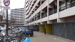 Gata i invandrarområdet Bijlmermeer i Amsterdam