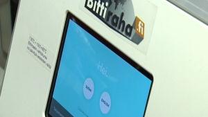 Bild på bitcoin-automat