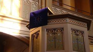 Predikstolen i Trefaldighetskyrkan i Vasa