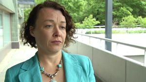 Johanna Korhonen efter tingsrättens beslut