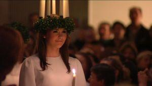 Lucia i domkyrkan