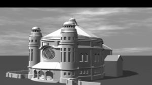 Rekonstruktion av synagogan i Regensburg