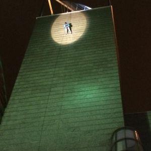 Risto Kuusisto laskeutuu Ison Pajan tornista