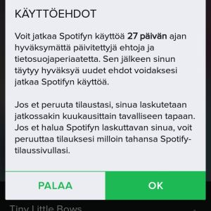 Spotifyn uudet käyttöehdot
