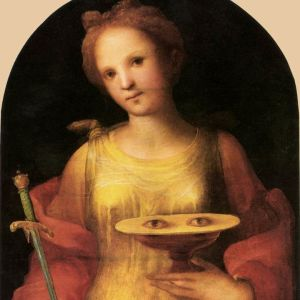 Domenico Beccafumis målning av Sankta Lucia.