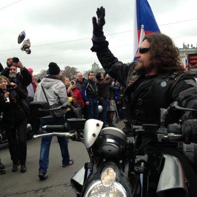 Alexander Saldostanov, ledare av Nattens Vargar, i S:t Petersburg den 2 maj 2015.