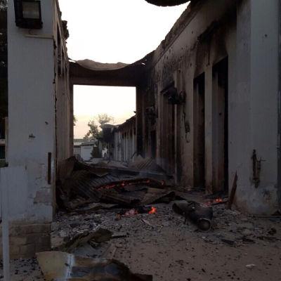 Sjukhus i Kunduz Afghanistan flygbombades.