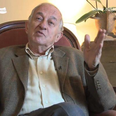 mies levittää käsiään puhuessaan