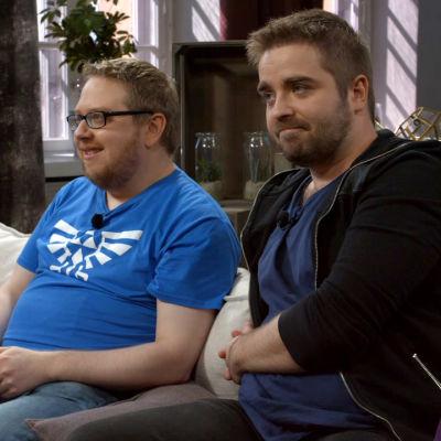 Benny Holmström och Ted Forsström spelar