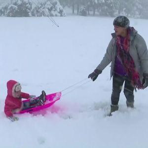snöfall i australien