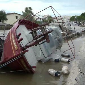 översvämningar på grekland