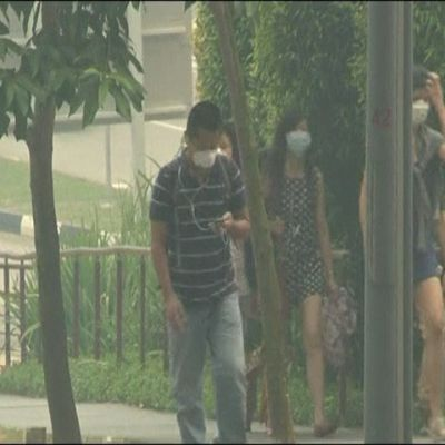 Luften hälsovådlig i Singapore
