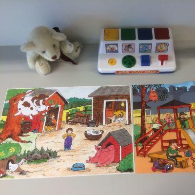 Lapsen kielellistä kehitystä arvioidaan neuvolassa muun muassa kuvien avulla.