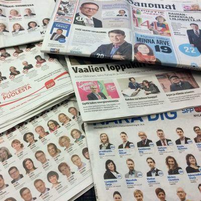 Vaali 2015 sanomalehdet 08.04.2015