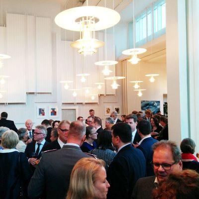 Saksan suurlähetystössä Helsingissä juhlia vietettiin maanantaina.