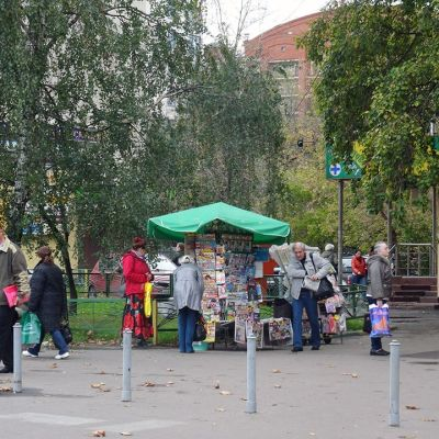 Katunäkymä Moskovassa