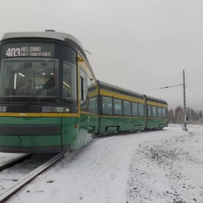 Helsingin uusi ratikka talvi