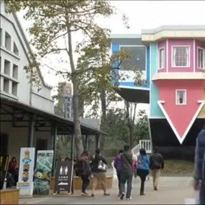 Uutisvideot: Nurinkurinen talo vetää yleisöä Taiwanissa