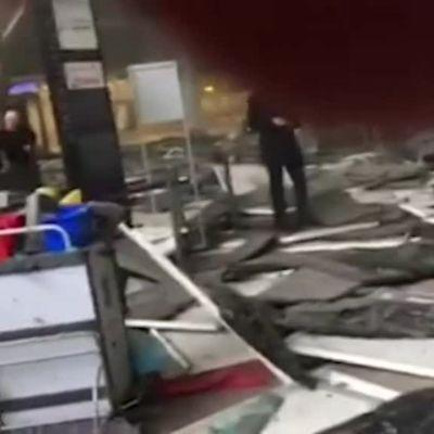 Uutisvideot: Silminnäkijä tallensi Brysselin lentoaseman tuhoja