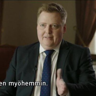 Uutisvideot: Islannin pääministeri käveli ulos veroparatiisihaastattelusta - tekstitys