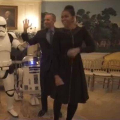 Uutisvideot: Obamat tanssivat Tähtien sota -hahmojen kanssa