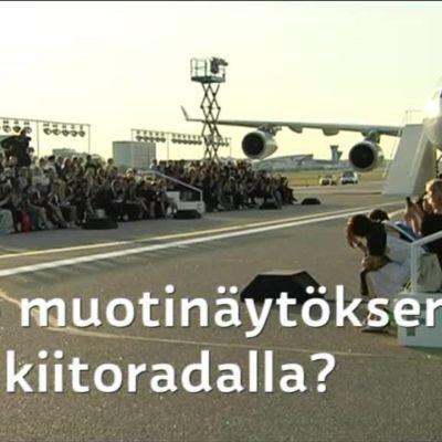 Uutisvideot: Tältä näytti muotinäytös Helsinki-Vantaan kiitoradalla