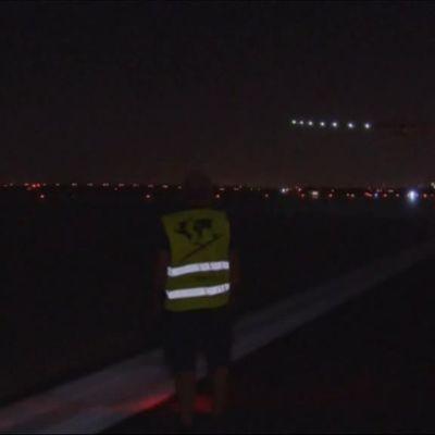 Uutisvideot: Aurinkolentokone lähti ylittämään Atlantia