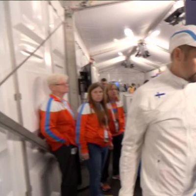 Urheilujuttuja: Antti Ruuskasen mitalijuhlat Amsterdamissa