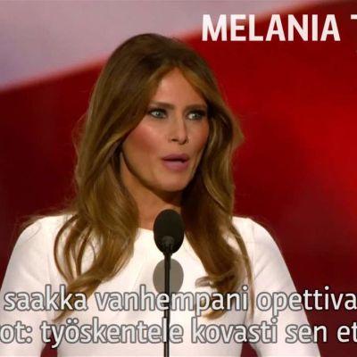 Uutisvideot: Melania Trump toisti Michelle Obaman sanoja - vertaa itse