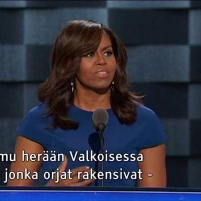 Uutisvideot: Michelle Obama hurmasi puoluekokouksessa