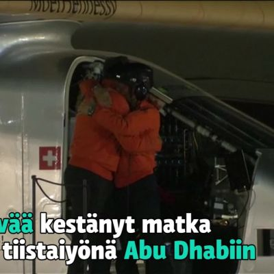 Uutisvideot: Solar Impulse 2 -koneen maailmanympäryslento päätökseen – takana yli vuosi matkantekoa auringon voimalla