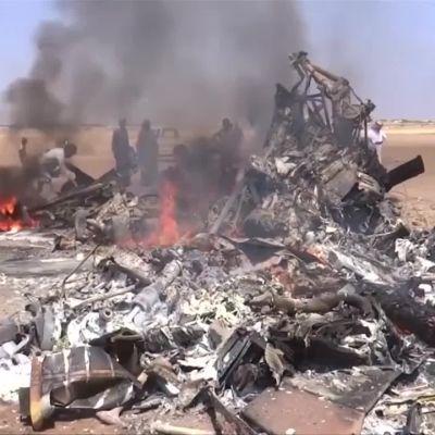 Uutisvideot: Venäläishelikopteri ammuttiin alas Syyriassa