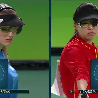 Rion olympialaiset: Naisten ilmapistoolin kulta Kiinan yllätysnimelle