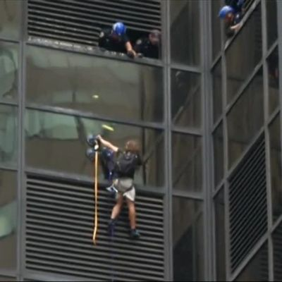Uutisvideot: Mies kiipesi Trump Toweriin - halusi tavata Trumpin