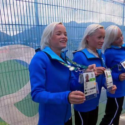 Rion olympialaiset: Viron identtiset kolmoset toivovat tulevansa maratonin maaliin yhdessä